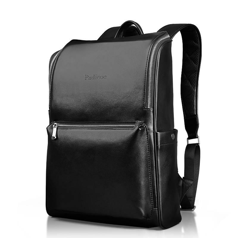 Luxury Solid Men's Genuine Leather Laptop Backpack Backpacks Men Bags & Wallets