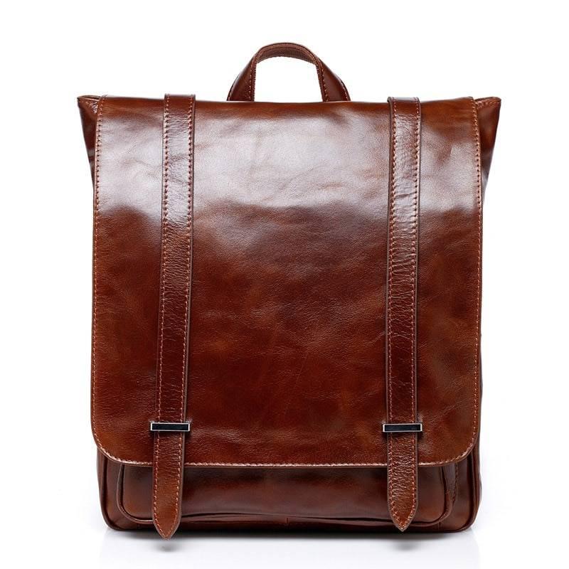 Luxury Men's Genuine Leather Laptop Backpack Backpacks Men Bags & Wallets