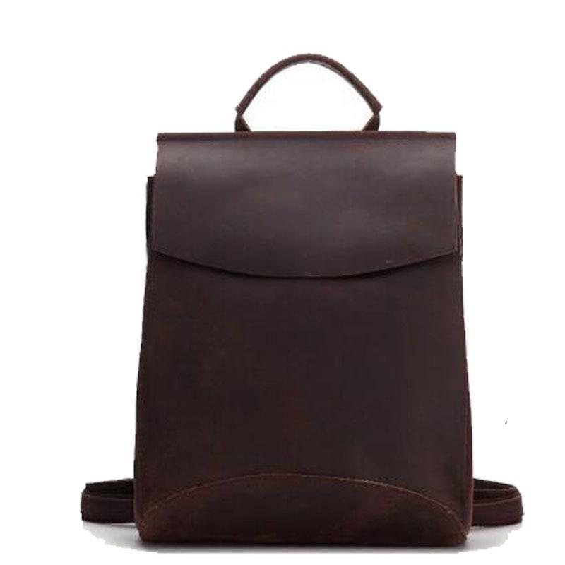 Vintage Men's Genuine Leather Laptop Backpack Backpacks Men Bags & Wallets