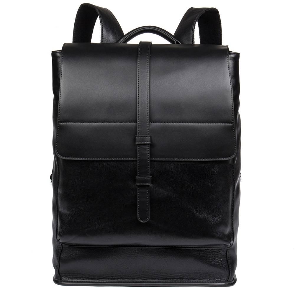 Preppy Style Men's Genuine Leather Laptop Backpack Backpacks Men Bags & Wallets