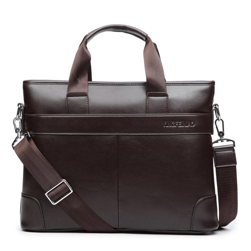 Men's Casual Leather Briefcase Briefcases Men Bags & Wallets