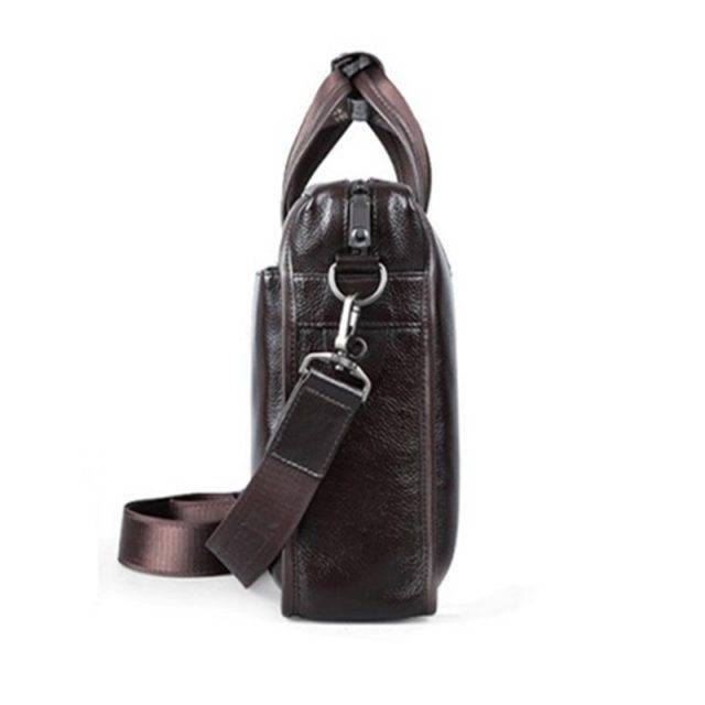Business Styled Leather Handbag for Men Briefcases Men Bags & Wallets Color : Black|Brown