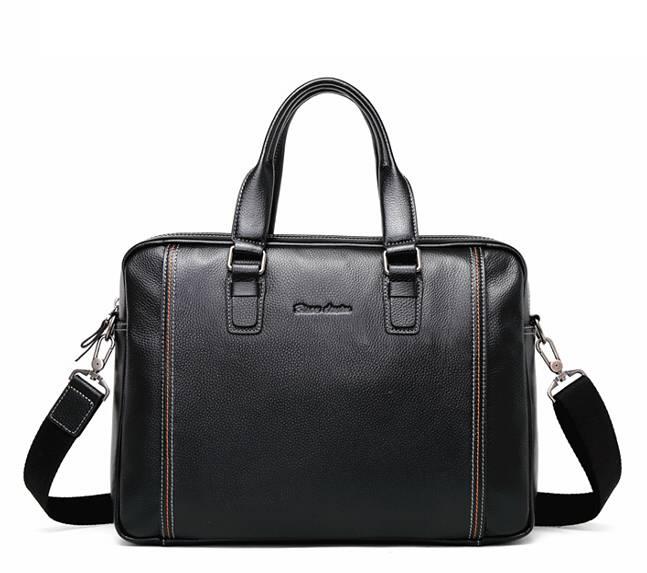 Men's Genuine Leather Crossbody Bag Briefcases Men Bags & Wallets
