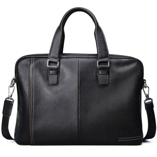 Men's Elegant Business Briefcase Briefcases Men Bags & Wallets Color : Black