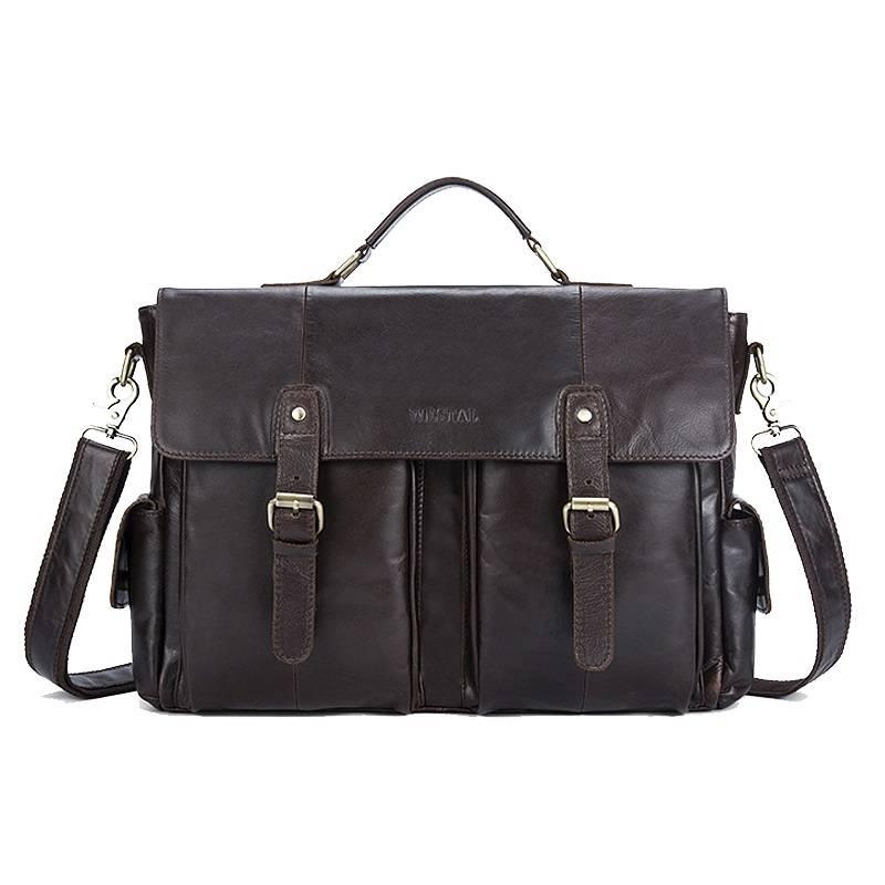 Men's Genuine Leather Briefcase Briefcases Men Bags & Wallets