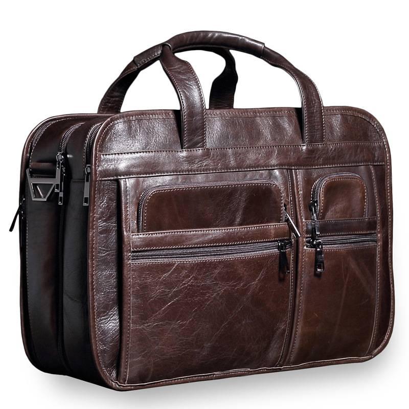 Men's Business Leather Briefcase Briefcases Men Bags & Wallets