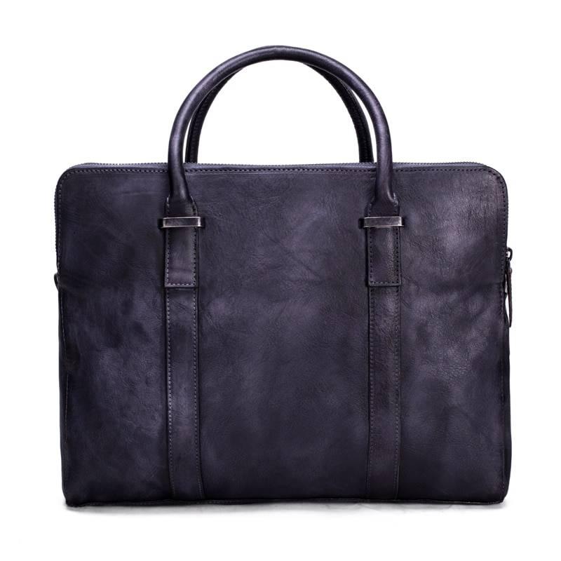 Vintage Cowhide Briefcase for Men Briefcases Men Bags & Wallets