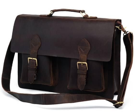 Vintage Genuine Leather Men's Briefcase Briefcases Men Bags & Wallets