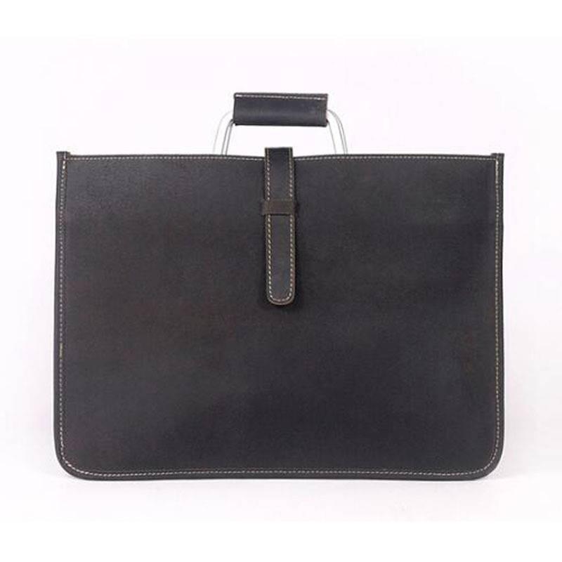 Men's Minimalistic Genuine Leather Briefcase Briefcases Men Bags & Wallets