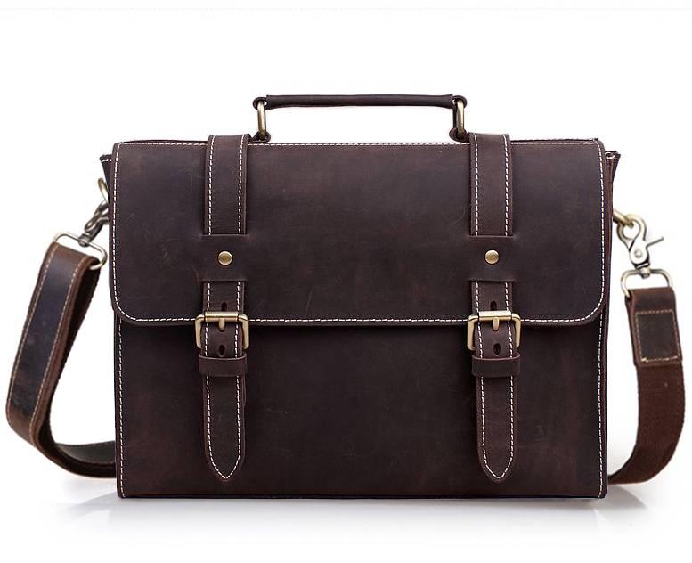 Men's Vintage Leather Briefcase Briefcases Men Bags & Wallets
