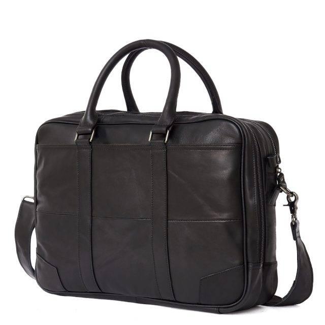 Men's Casual Briefcase Briefcases Men Bags & Wallets Color : Black Coffee