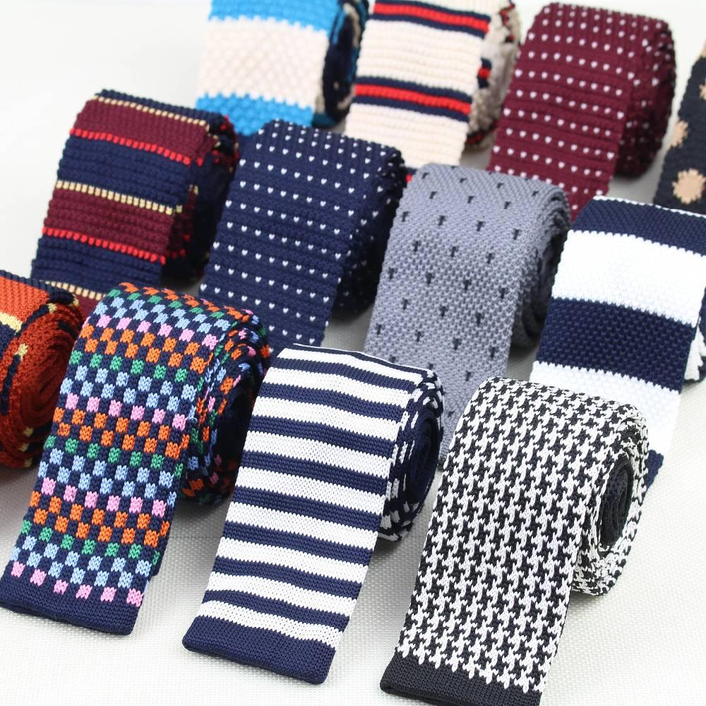 Knitted Striped Men's Ties Accessories Men's Clothing & Accessories Ties, Bowties & Handkerchiefs