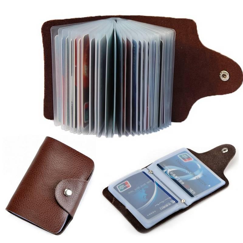 Leather Business Card Holder Cardholders Men Bags & Wallets