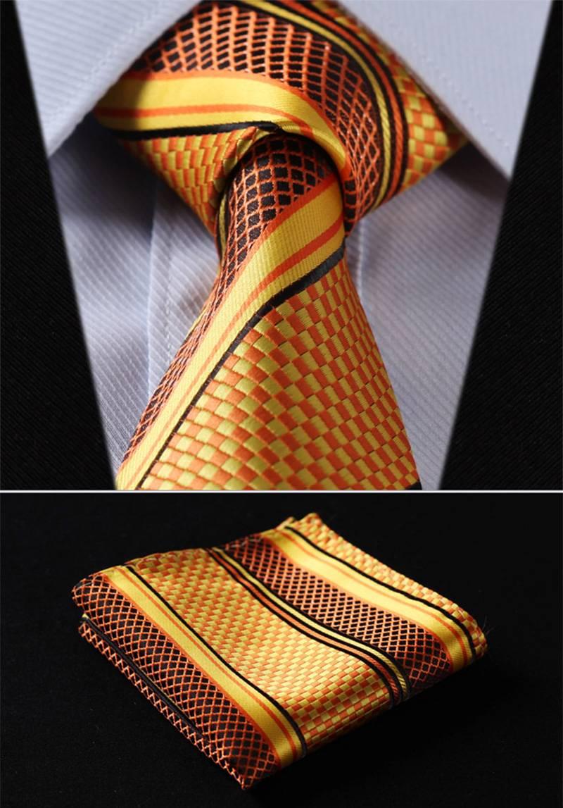 Classic Silk Tie and Handkerchief Set Accessories Men's Clothing & Accessories Ties, Bowties & Handkerchiefs