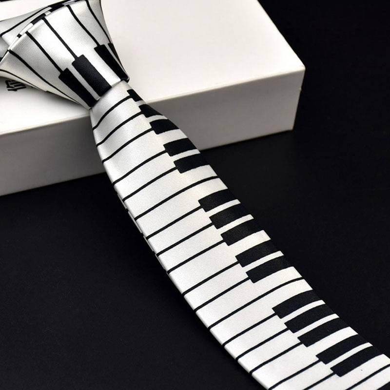 Piano Key Tie for Men Accessories Men's Clothing & Accessories Ties, Bowties & Handkerchiefs