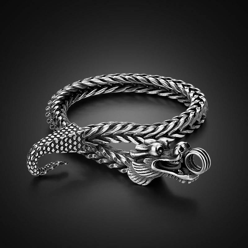 Silver Dragon Bracelet Bracelets