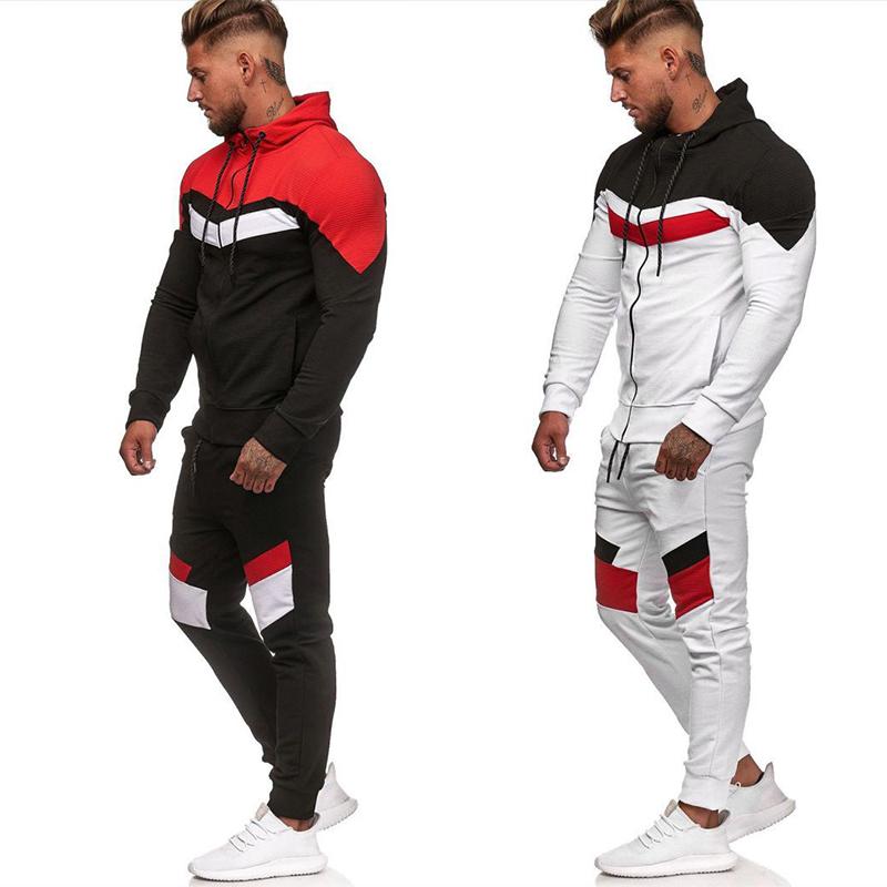 Patchwork Tracksuit for Men Suits & Blazers Tracksuits