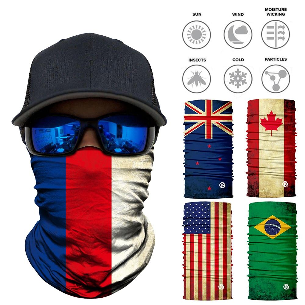 3D Flag Seamless Neck Gaiter and Face Shield Accessories Men's Clothing & Accessories Neck Gaiter, Bandanas, Balaclavas