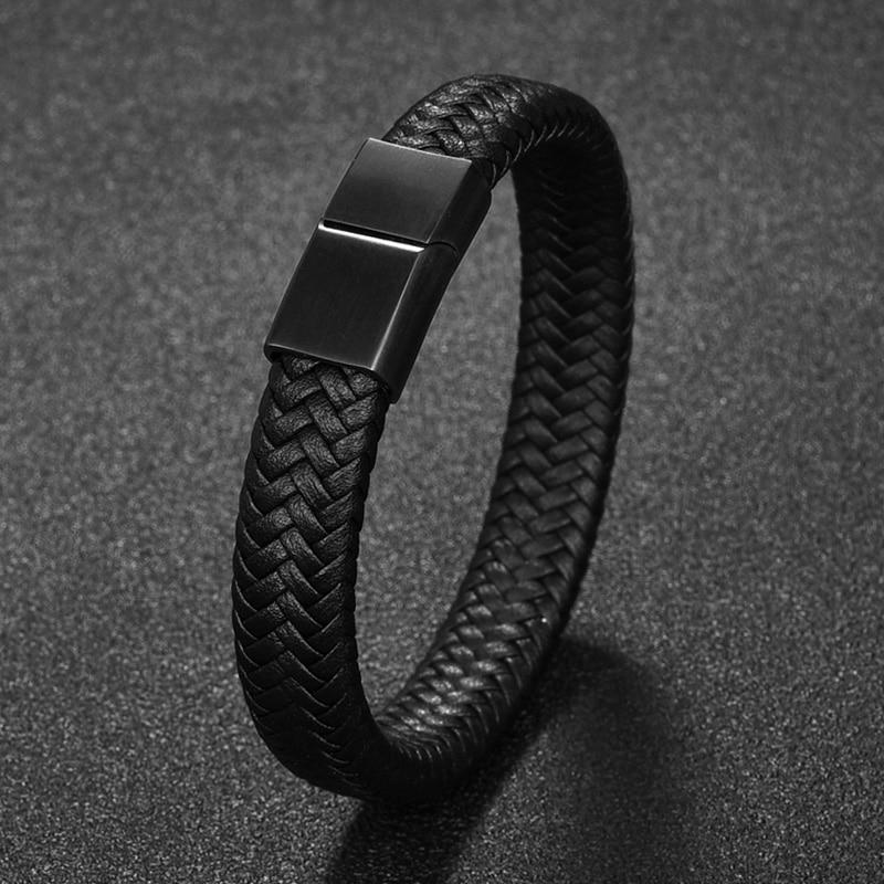 Men's Simple Leather Bracelet Bracelets Men Jewelry