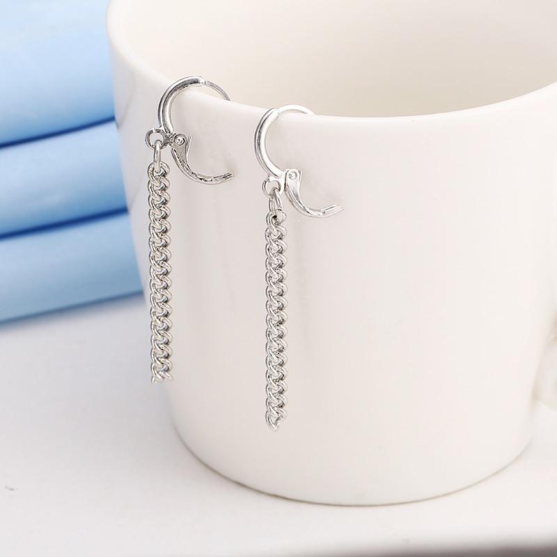 Punk Style Tassel Earrings for Men Earrings Men Jewelry