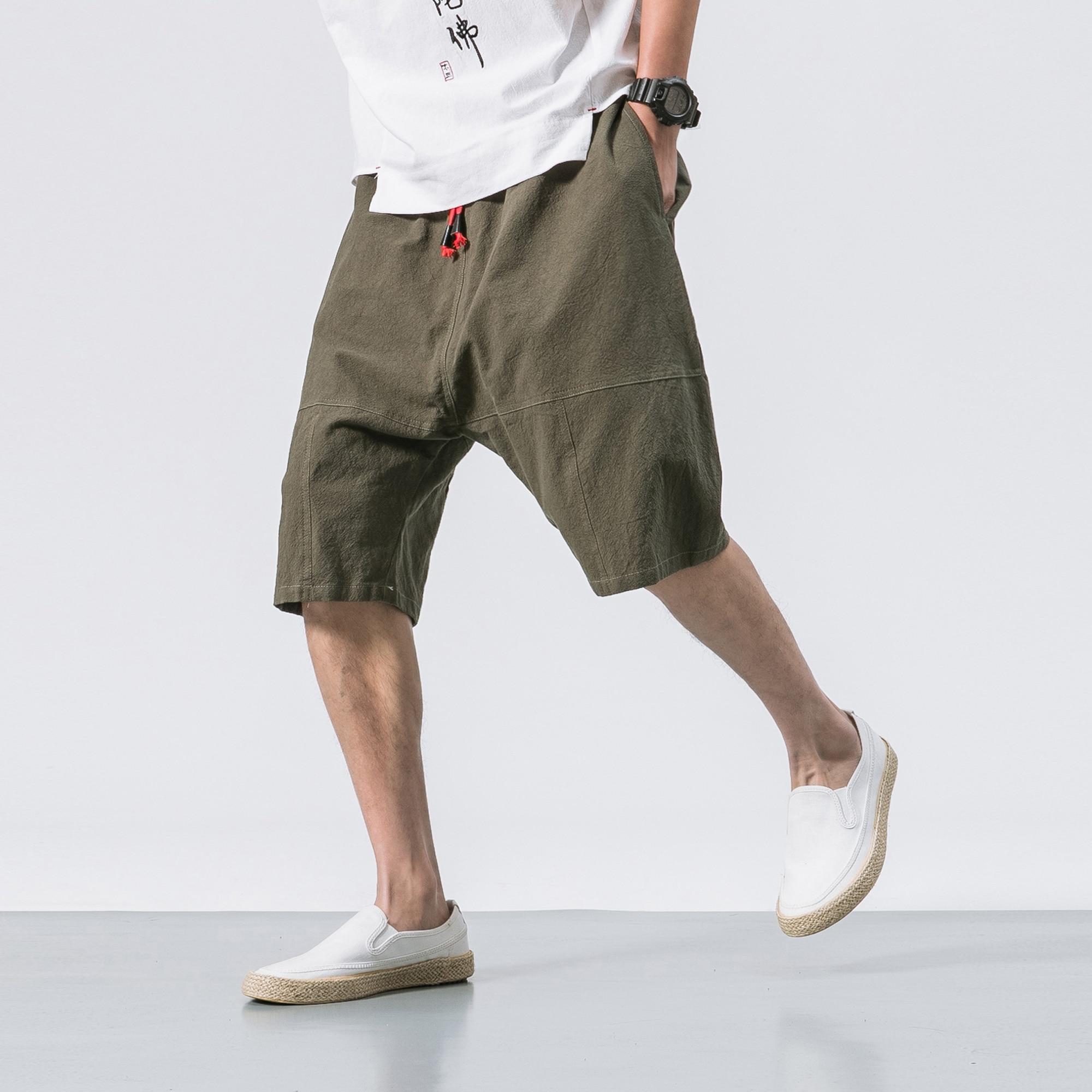 Men's Breathable Calf Length Elastic Waist Shorts BOTTOMS Men's Clothing & Accessories Shorts