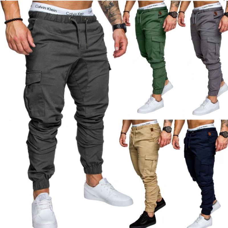 Men's Casual Elastic Joggers BOTTOMS Men's Clothing & Accessories Pants