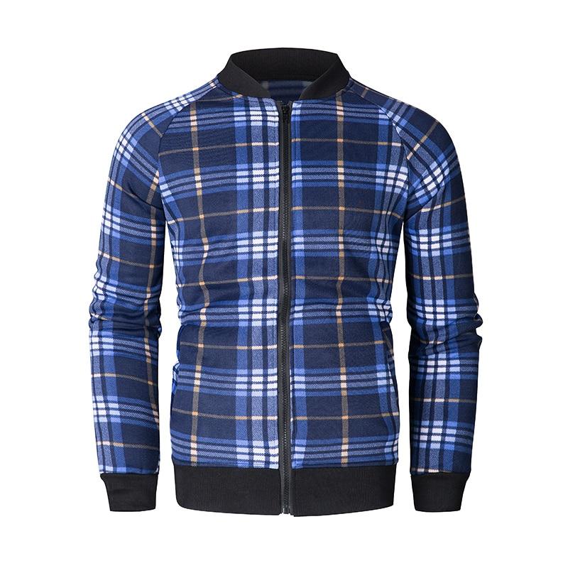 Lattice Plaid Gentlemen Jacket Jackets & Vests Men Sport Clothing Sport Clothing Sets Sports Tops & T-Shirts Tracksuits