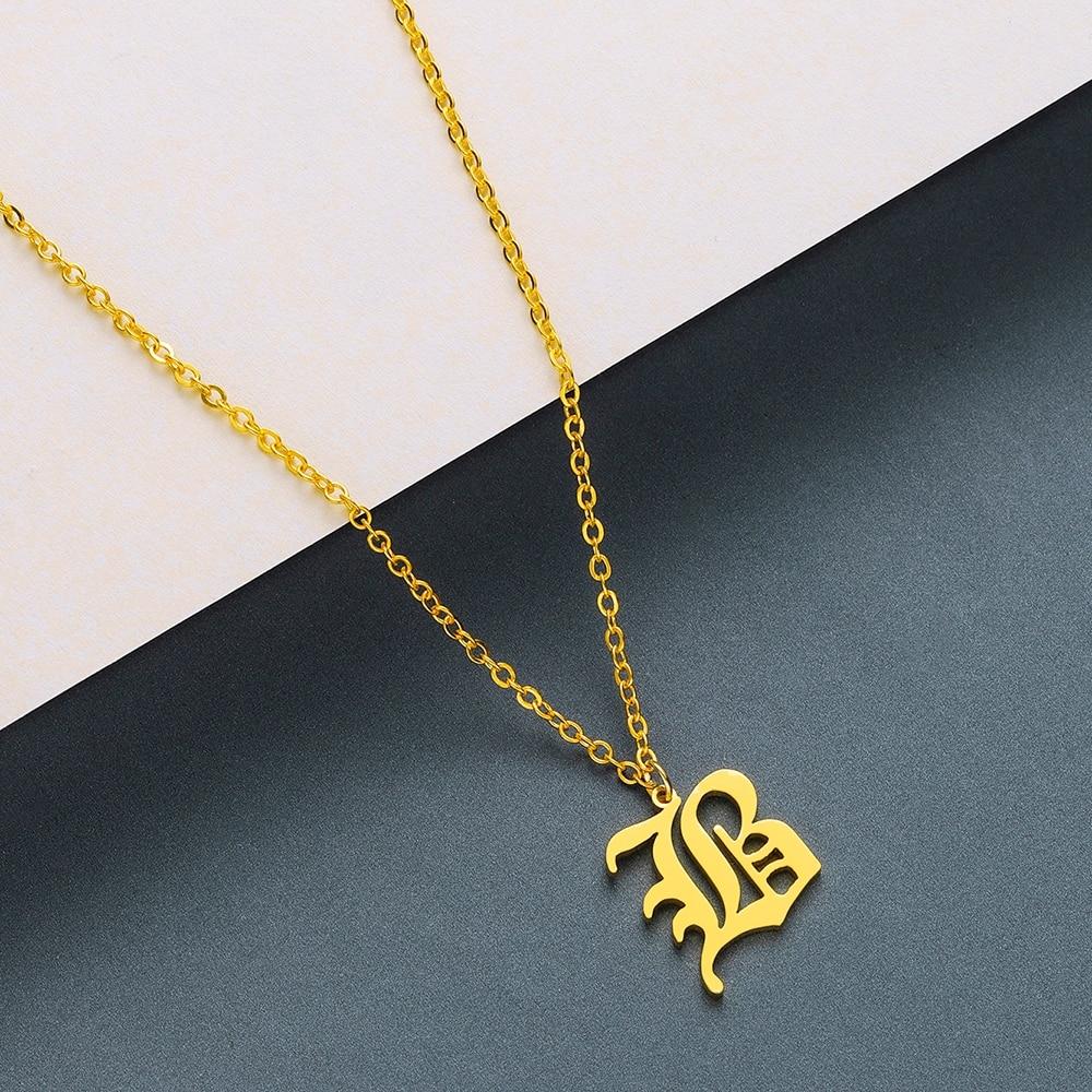 Men's Gothic Letter Shaped Pendant Necklace Men Jewelry Necklaces