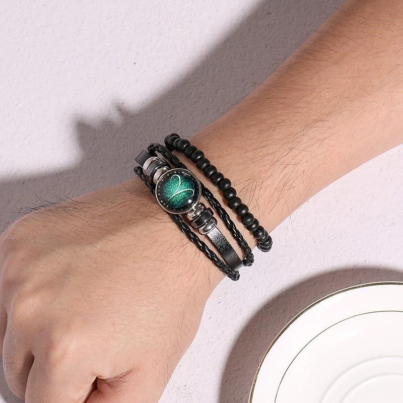 Men's Multi-Layer Leather Rope Bracelet Bracelets Men Jewelry