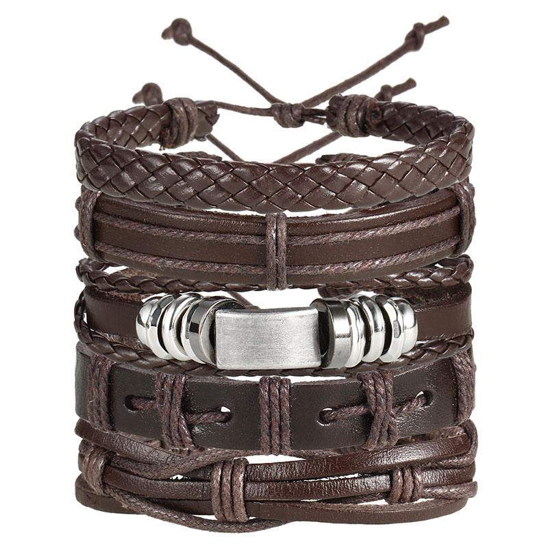 Vintage Multilayer Leather Bracelet for Men Bracelets Men Jewelry