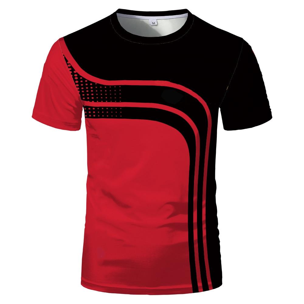 3D Digital Summer Hot Sale Fashion Short Sleeve Slim Comfortable Men's and Women's Sports T-shirt Tops & T-Shirts