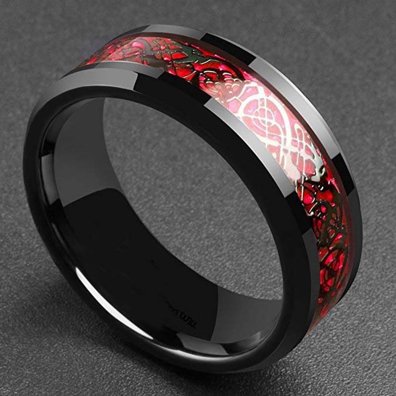 Black Celtic Pattern Men's Ring Men Jewelry Rings