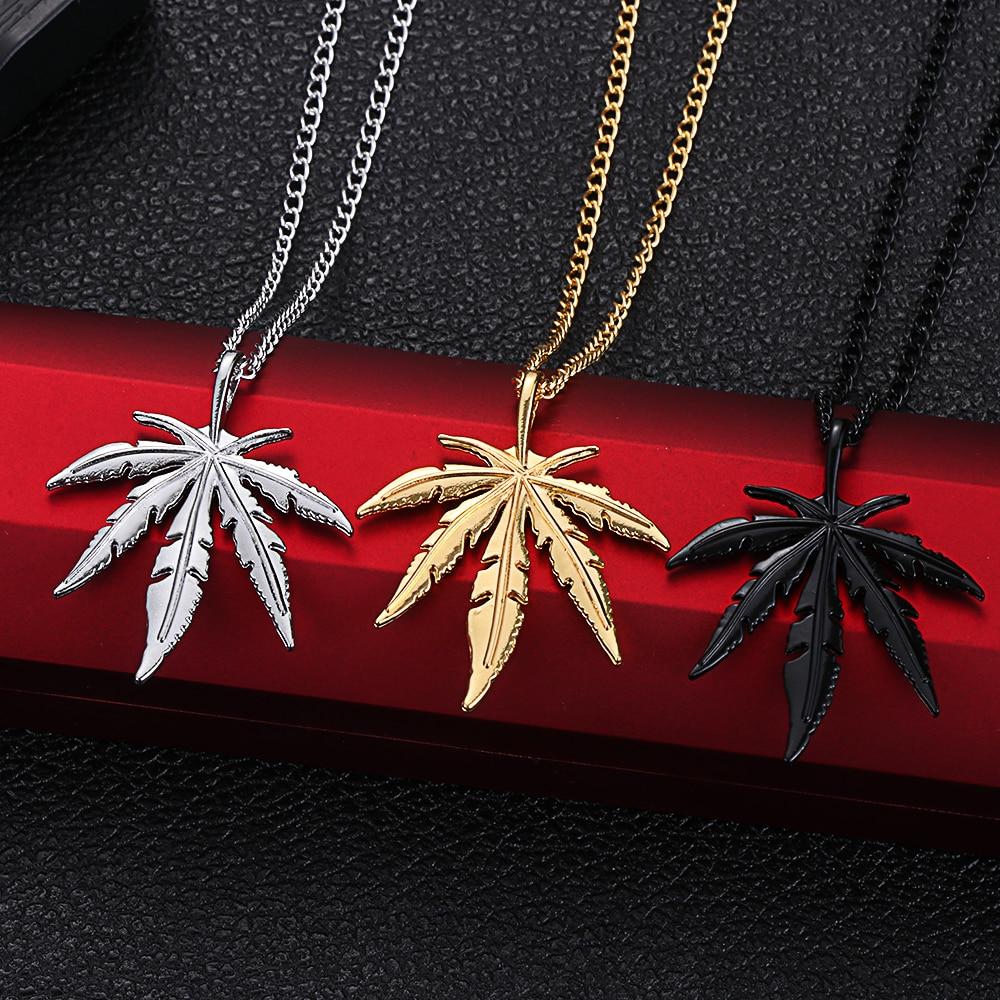 Maple Leaf / Marijuana Leaf Necklace for Men Necklaces