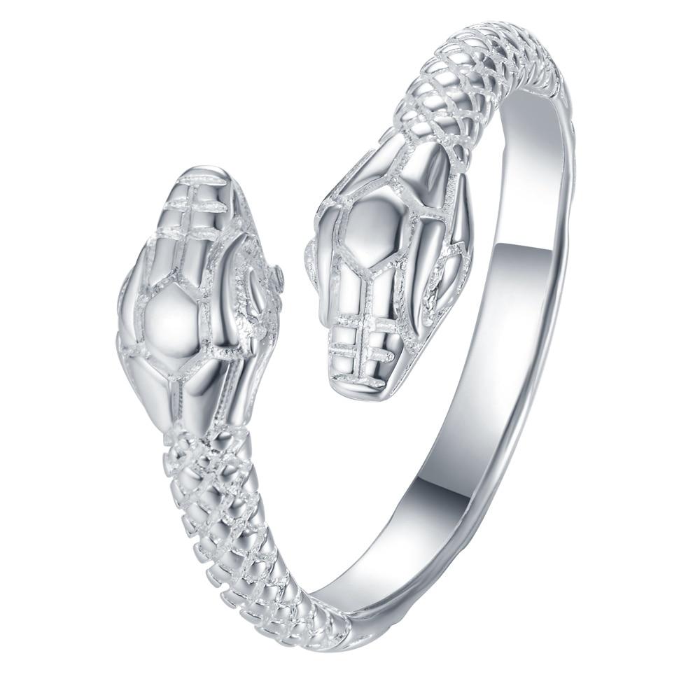 Men's Double Snake Resizable Ring Men Jewelry Rings