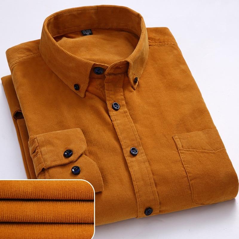 Men's Warm Corduroy Shirt Men's Clothing & Accessories Shirts