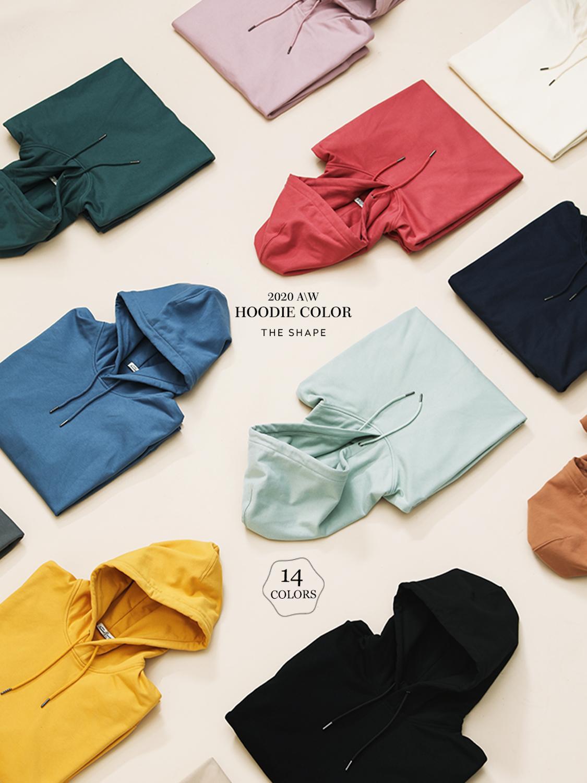 Solid Color Hooded Sweatshirt for Men Hoodies & Sweatshirts Men's Clothing & Accessories
